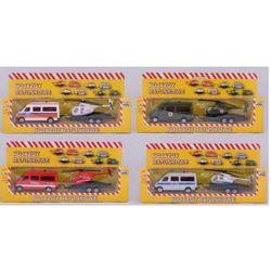 Pojazdy ratunkowe zestaw: pogotowie ratunkowe, policja, stra. Darmowy odbiór w niemal 100 księgarniach!