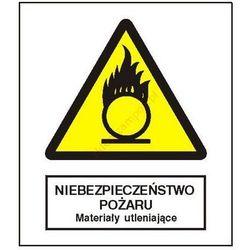 Znak Niebezpieczeństwo pożaru - Materiały utleniające FB