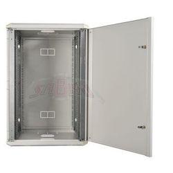 """Szafa wisząca rack 19"""" 21Ux600x600 IP30 Ściany boczne otwierane Drzwi pełne RAL 7035 szary SIDE-O19-21U-60-DP-S"""