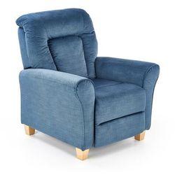 Fotel Bard Rozkładany kolor niebieski