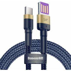Kabel Baseus cafule CATKLF-PV3 USB USB typu C 1m kolor granatowy- natychmiastowa wysyłka, ponad 4000 punktów odbioru!