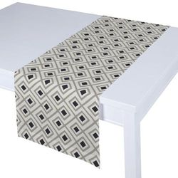Dekoria Bieżnik prostokątny, czarno-szare romby na białym tle, 40 × 130 cm, Geometric