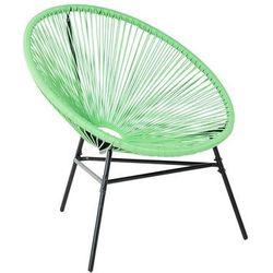 Krzesło rattanowe zielone ACAPULCO