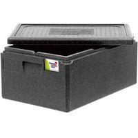 Kosze i pojemniki gastronomiczne, Pojemnik termoizolacyjny z polipropylenu GN 1/1 250 mm, czarny | THERMO FUTURE BOX, 056251