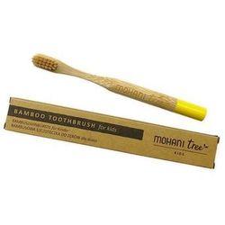 MOHANI bambusowa szczoteczka do zębów dla dzieci żółta włosie miękkie