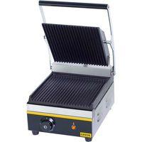 Grille gastronomiczne, Kontakt grill pojedynczy, ryflowany, 265x325x200 mm | GREDIL, 742010