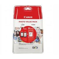 Papiery i folie do drukarek, Komplet Canon PG-545XL + CL-546XL 15ml + 13ml + 50ark. papieru fotograficznego oryginalny