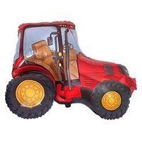 Pozostałe wyposażenie domu, Balon foliowy Traktor czerwony - 36 cm - 1 szt.