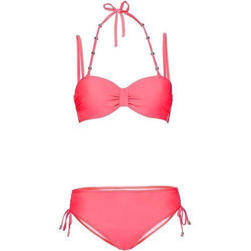 Stroje kąpielowe, Bikini na fiszbinach (2 części) bonprix czerwony neonowy