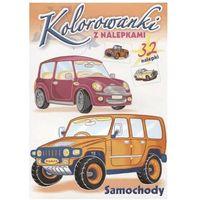 Książki dla dzieci, Kolorowanki z nalepkami. Samochody (opr. miękka)