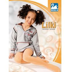 LILKI - Rajstopy, cienka bawełna, gładkie 6-11 lat