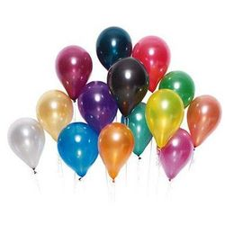 Balony lateksowe metaliczne średnie - kolorowe - 25 szt.