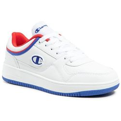 Sneakersy CHAMPION - Low Cut Shoe Rebound Low B Gs S31968-S21-WW001 Wht/Rbl/Red