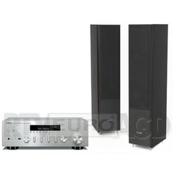 Yamaha MusicCast R-N602 (srebrny), Pylon Audio Coral 25 (czarny)