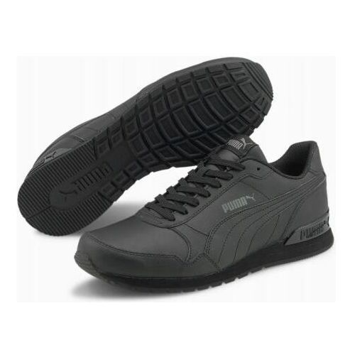 Męskie obuwie sportowe, BUTY UNISEX ST RUNNER LEATHER CZARNE 36527722
