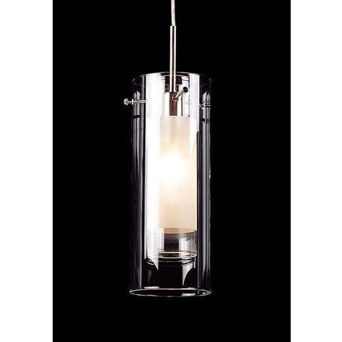 Lampy sufitowe, LAMPA wisząca TERNI MD0118F-1 Italux ZWIS szklana OPRAWA zwis TUBA biała przezroczysta