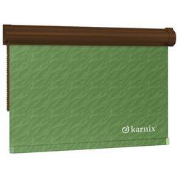 Mini Roleta w KASECIE aqua (żakardowa) - Green / Brązowy