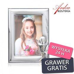 ankabizuteria.pl Ramka srebrna do zdjęcia życzenia - prezent komunię świętą