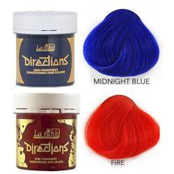 La Riche Directions   Zestaw tonerów koloryzujących: kolor Midnight Blue 88ml + kolor Fire 88ml