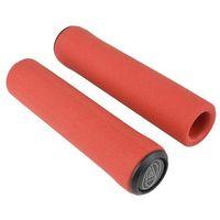 Rogi i chwyty do kierownicy, Chwyty kierownicy Author AGR Silicone Elite 129 mm, czerwone
