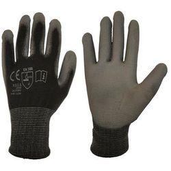 Rękawice ochronne r. XXL / 10 poliestrowe z powłoką poliuretanową
