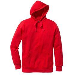 Bluza z kapturem Regular Fit bonprix czerwony
