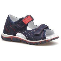Sandały dziecięce RenBut 21-3273 Granatowe/Czerwone zamsz