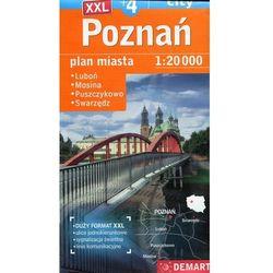 Poznań Plus 4 Plan miasta 1:20 000 - 35% rabatu na drugą książkę! (opr. miękka)