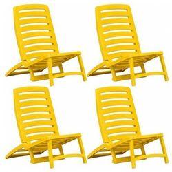 Komplet leżaków plażowych Lido - zółte