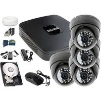 Zestawy monitoringowe, Zestaw do monitoringu: Rejestrator BCS-XVR0801E, 4x Kamera LV-AL25HD, 1TB, akcesoria