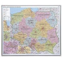 Mapy i atlasy dla dzieci, tablica mapa Polski administracyjna 102x120 cm (pinezki)