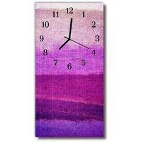 Farby, Zegar Szklany Pionowy Farba malowany purpurowy