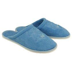 METEOR 042 FROTTE niebieski, kapcie damskie łazienkowe - Niebieski