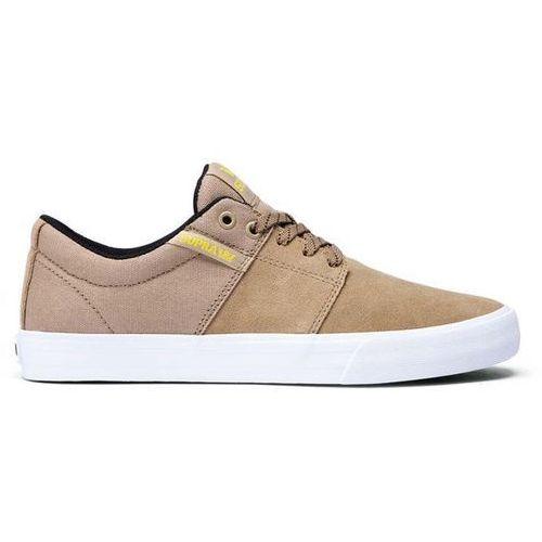 Obuwie sportowe dla mężczyzn, buty SUPRA - Stacks Vulc II Khaki-White (KHK) rozmiar: 45