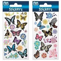 Naklejki, Naklejki Sticker BOO motyle i kwiaty