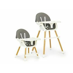 Fotelik, krzesełko do karmienia dla dzieci, ecotoys, 2w1, szary