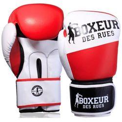 Rękawice bokserskie BOXEUR BXT-591 Biało-czerwony (14 oz)