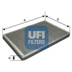 Filtr, wentylacja przestrzeni pasażerskiej UFI 54.169.00