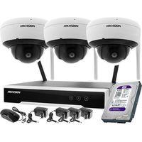 Zestawy monitoringowe, ZM11991 Zestaw wifi bezprzewodowowy 3-kamerowy Hikvision WiFi 4Mpx 1TB