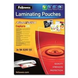Fellowes Laminating Pouches SuperQuick Capture 125 micron