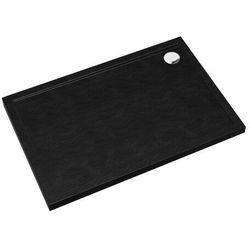 Brodzik akrylowy Sched-Pol Atla prostokątny 80 x 120 x 4,5 cm czarny