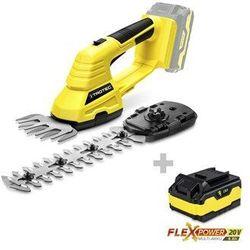 Akumulatorowe nożyce do trawy i krzewów PGSS 10-20V + Dodatkowy akumulator Flexpower 20V 4,0 Ah
