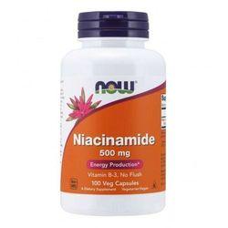 NOW Foods Niacynamid, 500mg - 100 kapsułek