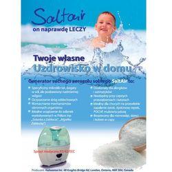 Generator suchego aerozolu solnego SaltAir Salinizer salinizator do solanki do domu i do gabinetu urządzenie medyczne Przesyłka gratis