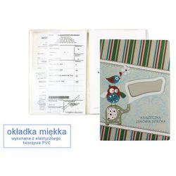Okładka etui na książeczkę zdrowia dziecka, PVC - 1-słonik i zielone prążki