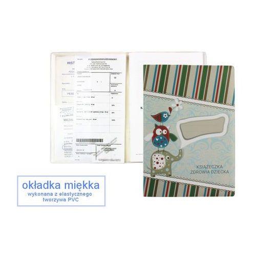Zeszyty, Okładka etui na książeczkę zdrowia dziecka, PVC - 1-słonik i zielone prążki