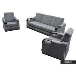 SELSEY Komplet wypoczynkowy Samalina kanapa i dwa fotele
