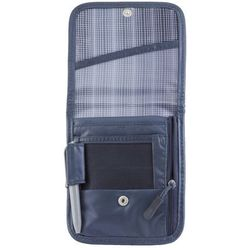 Paszportówka na szyję z zabezpieczeniem kart zbliżeniowych (ciemny szary) - Ciemny szary