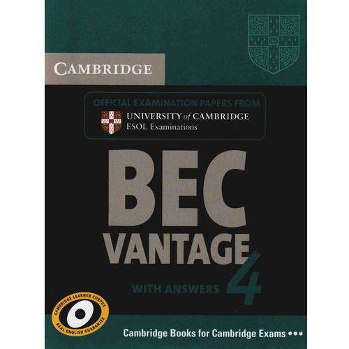 Książki do nauki języka, Cambridge BEC Vantage 4 Student's Book (podręcznik) with Answers (opr. miękka)