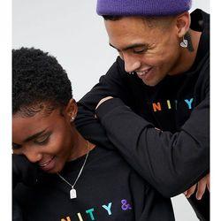 ASOS X GLAAD Oversized Sweatshirt With Embroidery - Black